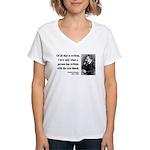 Nietzsche 33 Women's V-Neck T-Shirt