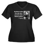 Nietzsche 33 Women's Plus Size V-Neck Dark T-Shirt
