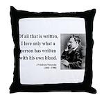 Nietzsche 33 Throw Pillow