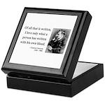 Nietzsche 33 Keepsake Box