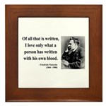 Nietzsche 33 Framed Tile
