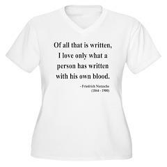 Nietzsche 33 Women's Plus Size V-Neck T-Shirt