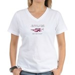 Bright Future SJS Survivor Women's V-Neck T-Shirt