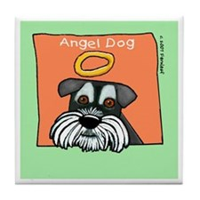 Angel Dog Memorial Miniature Schnauzer Tile Coaste