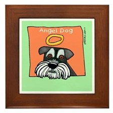Angel Dog Memorial Miniature Schnauzer Framed Tile