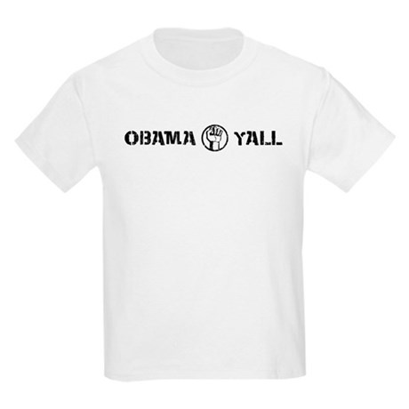 Obama Yall Kids Light T-Shirt