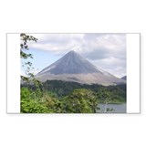 Costa Rica Arenal Rectangle Decal