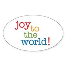 Joy to the World Oval Sticker (50 pk)