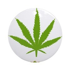 Vegetarian Weed Ornament (Round)