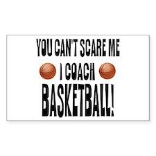 I Coach Basketball Rectangle Sticker 50 pk)