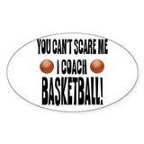 I Coach Basketball Oval Decal