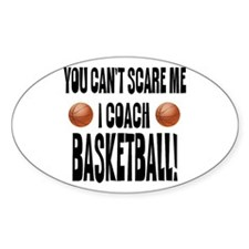 I Coach Basketball Oval Sticker (50 pk)