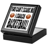 I Coach Basketball Keepsake Box