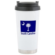 South Carolina Flag Ceramic Travel Mug