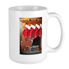 Basenji Christmas Stockings Mug