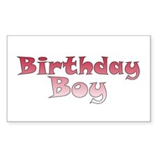 Birthday Boy (red) Rectangle Sticker 50 pk)