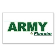 Army Fiancée Rectangle Decal