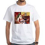 Santa's Beardie pair White T-Shirt