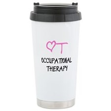 OT Pink Heart Ceramic Travel Mug