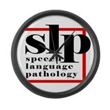 SLP - Speech Language Patholo Large Wall Clock