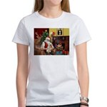 Santa's Bedlington Women's T-Shirt