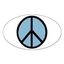 Peace Symbol Oval Decal