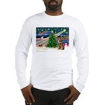 Xmas Magic & Border T Long Sleeve T-Shirt