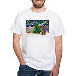 Xmas Magic & Border T White T-Shirt