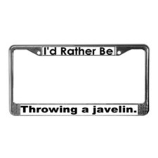 Rather Javelin Speech Bubble License Plate Frame