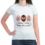 Peace Love Hope For A Cure Jr. Ringer T-Shirt