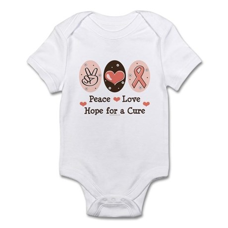 Peace Love Hope For A Cure Infant Bodysuit
