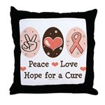 Peace Love Hope For A Cure Throw Pillow