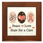 Peace Love Hope For A Cure Framed Tile