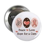 Peace Love Hope For A Cure 2.25