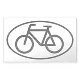 Bicycle Oval Rectangle Sticker 50 pk)