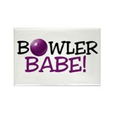 Bowler Babe Rectangle Magnet (100 pack)