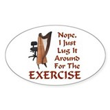 Harp for the Exercise Oval Decal