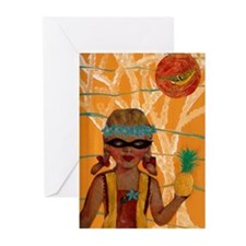 Funny Supergirl Greeting Cards (Pk of 10)