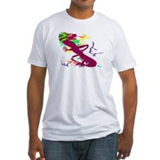 Chinese and Sun Dragon on Fitted Tee