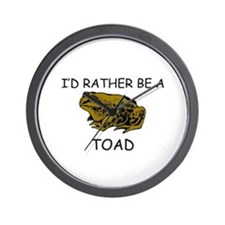 I'd Rather Be A Toad Wall Clock