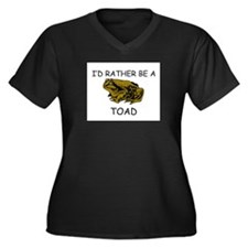 I'd Rather Be A Toad Women's Plus Size V-Neck Dark