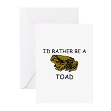 I'd Rather Be A Toad Greeting Cards (Pk of 10)