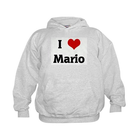 I Love Mario Kids Hoodie