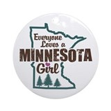 Minnesota Girl Ornament (Round)