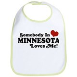 Somebody in Minnesota Loves Me Bib