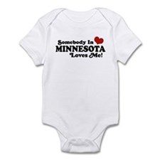 Somebody in Minnesota Loves Me Infant Bodysuit