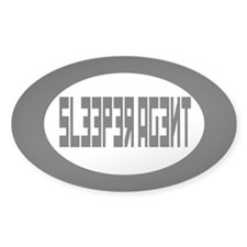 Sleeper agent Bumper Decals Oval Decal