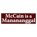 McCain is a Manananggal bumper sticker