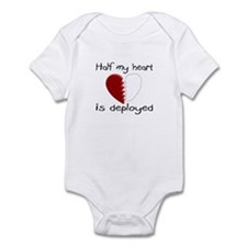 Half My Heart Is Deployed Infant Bodysuit