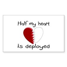 Half My Heart Is Deployed Rectangle Decal